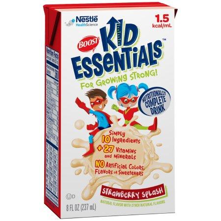 Pediatric Oral Supplement / Tube Feeding Formula Boost® Kid Essentials™ 1.5 Strawberry Splash Flavor 8 oz. Tetra Brik® Ready to Use Product Image