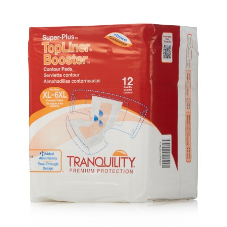Incontinence Booster Pad TopLiner™ Super Plus 32 Inch Length Heavy Absorbency Polymer Core One Size Fits Most Adult Unisex Disposable Product Image