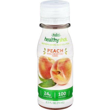 Oral Protein Supplement Healthy Shot® Peach Flavor Ready to Use 2.5 oz. Bottle Product Image