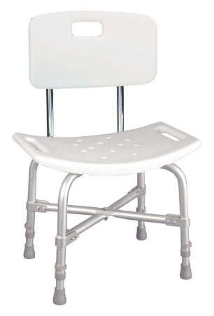 Knocked Down Bariatric Bath Bench drive™ Aluminum Frame With Backrest 20 Inch Seat Width Product Image