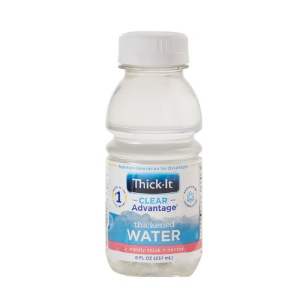 Thickened Water Thick-It® Clear Advantage® 8 oz. Bottle Unflavored Ready to Use Nectar Consistency Product Image