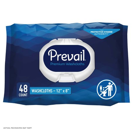 Personal Wipe Prevail® Soft Pack Aloe / Vitamin E / Chamomile Scented 48 Count Product Image