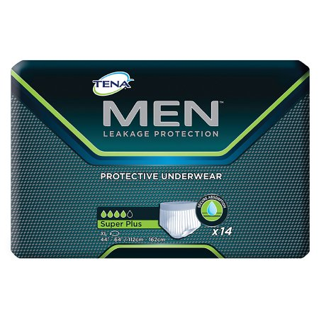 Male Adult Absorbent Underwear TENA® MEN™ Pull On with Tear Away Seams X-Large Disposable Moderate Absorbency Product Image