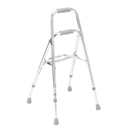 Side Step Folding Walker Adjustable Height drive™ Hemi Aluminum Frame 300 lbs. Weight Capacity 29-1/2 to 37 Inch Height Product Image