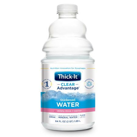 Thickened Water Thick-It® Clear Advantage® 64 oz. Bottle Unflavored Ready to Use Nectar Consistency Product Image