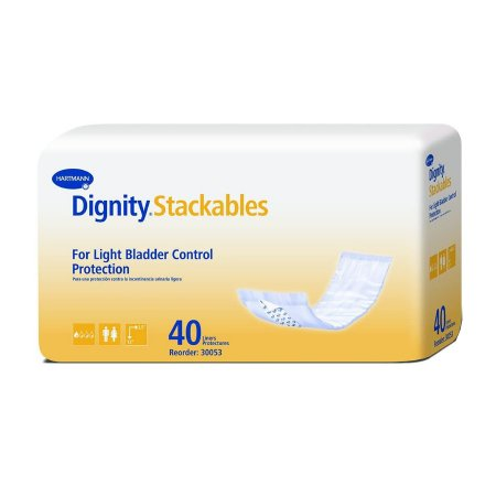 Bladder Control Pad Dignity® Stackables® 3-1/2 X 12 Inch Light Absorbency Polymer Core Medium Adult Unisex Disposable Product Image