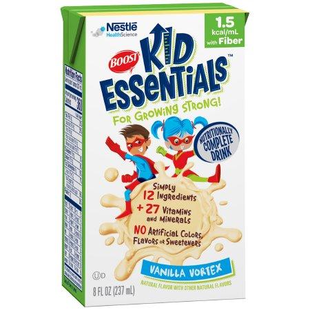 Pediatric Oral Supplement / Tube Feeding Formula Boost® Kid Essentials™ 1.5 with Fiber Vanilla Vortex Flavor 8 oz. Tetra Brik® Ready to Use Product Image