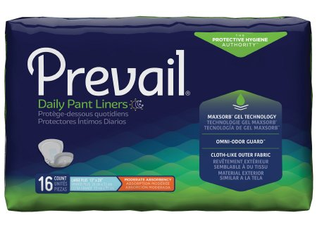 First Quality ontinence Liner Prevail� 28 h Length Heavy Absorbency Polymer Unisex Disposable One Pl-115(Cs) Item No.:MM 11503109 Product Catalog > ontinence > Liners > ontinence Liner Click To Remove