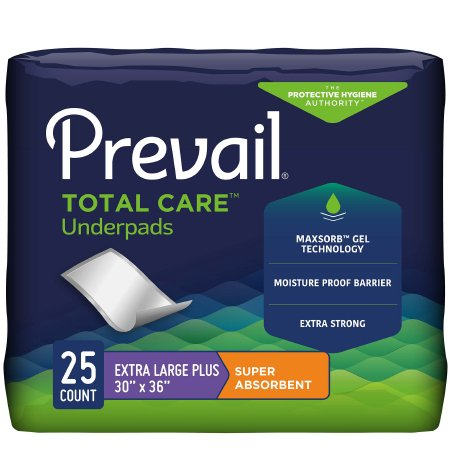 Underpad Prevail® Total Care™ 30 X 36 Inch Disposable Polymer Heavy Absorbency Product Image