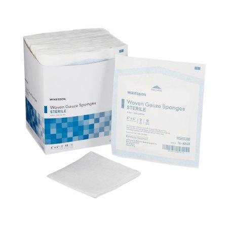 Gauze Sponge McKesson Cotton 8-Ply 4 X 4 Inch Square Sterile Product Image