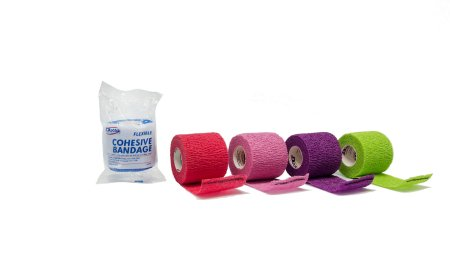 Cohesive Bandage Dukal™ 2 Inch X 5 Yard Standard Compression Self-adherent Closure Assorted Colors NonSterile Product Image