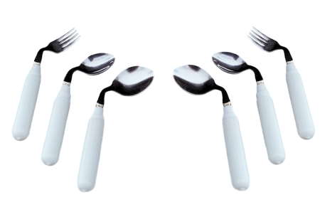 Fabrication Comfort Grip Right Handed Soup Spoon