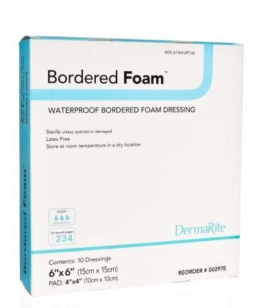 Foam Dressing BorderedFoam 6x6 (10/box)