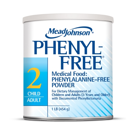 PKU Oral Supplement Phenyl-Free® 2 Vanilla Flavor 1 lb. Can Powder Product Image