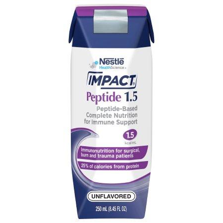 Tube Feeding Formula Impact® Peptide 1.5 8.45 oz. Carton Ready to Use Unflavored Adult Product Image