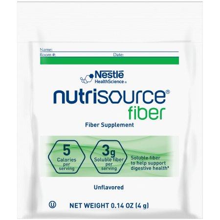 Oral Supplement Nutrisource® Fiber Unflavored Powder 4 Gram Individual Packet Product Image