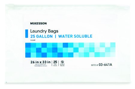 Waste Disposal Bags 100 Each / Case Medi-Pak MELT-A-WAY Polyvinyl ...