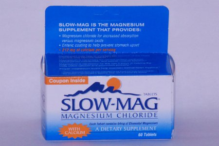 Magnesium Chloride Supplement Slow-Mag 71.5g (60/bottle)