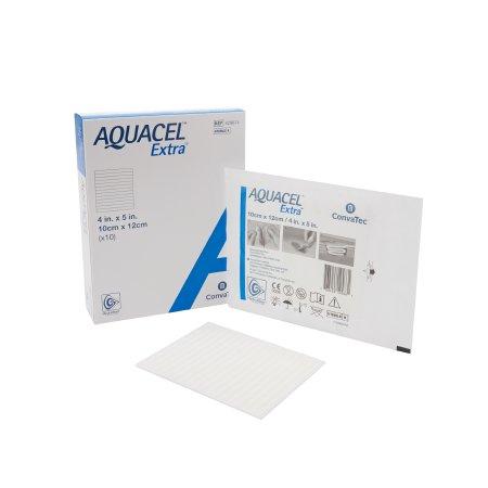 Hydrofiber Dressing Aquacel® Extra™ Hydrofiber (Sodium Carboxymethylcellulose) 4 X 5 Inch Product Image