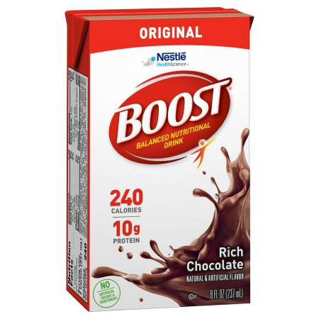 Oral Supplement Boost® Rich Chocolate Flavor Ready to Use 8 oz. Carton Product Image