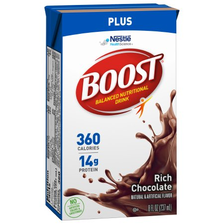 Oral Supplement Boost® Plus Rich Chocolate Flavor Ready to Use 8 oz. Carton Product Image