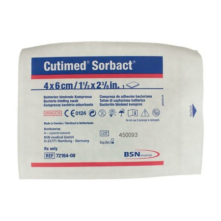 Impregnated Dressing Cutimed® Sorbact® 1.6 X 2.4 Inch Gauze Sorbact Sterile Product Image