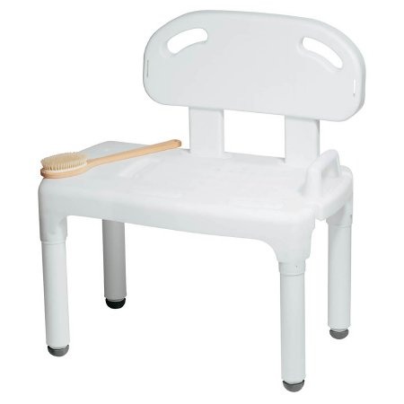 Carex® Bath Transfer Bench Without Arms 17-1/2 to 22-1/2 Inch Seat Height 400 lbs. Weight Capacity Product Image