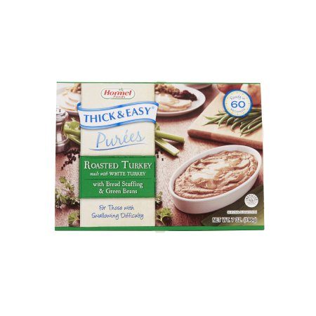 Puree Thick & Easy® Purees 7 oz. Tray Turkey with Stuffing / Green Beans Flavor Ready to Use Puree Consistency Product Image