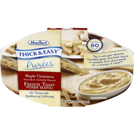 Puree Thick & Easy® Purees 7 oz. Tray Maple Cinnamon French Toast Flavor Ready to Use Puree Consistency Product Image