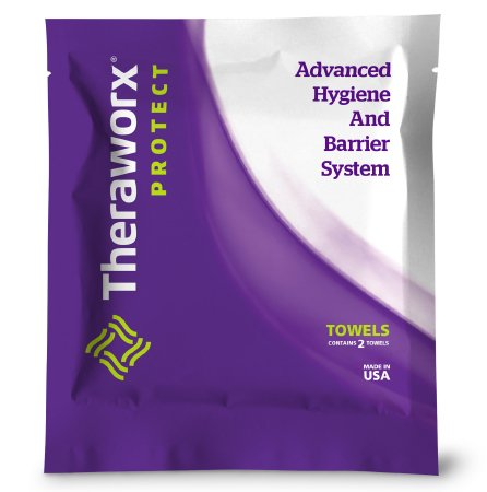 Rinse-Free Bath Wipe Theraworx® Protect Advanced Hygiene Barrier System Individual Packet Cocamidopropyl Betaine Lavender Scent 2 Count Product Image