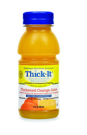 Thickened Beverage Thick-It AquaCareH2O 8oz - Orange Juice Nectar (24/case)