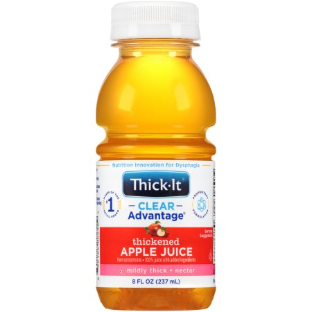 Thickened Beverage Thick-It® Clear Advantage® 8 oz. Bottle Apple Flavor Ready to Use Nectar Consistency Product Image