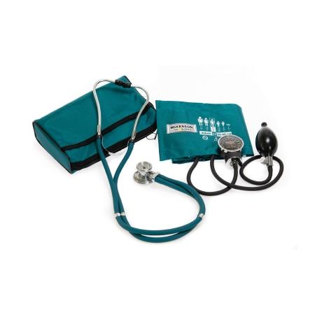 Aneroid Sphygmomanometer Combo Kit Pocket Style Hand Held Size 11 Nylon Cuff 22 Inch Stethoscope Tube Sprague Rappaport Stethoscope Product Image
