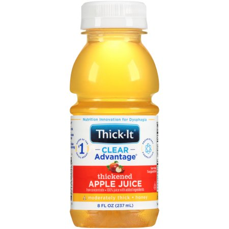 Thickened Beverage Thick-It® Clear Advantage® 8 oz. Bottle Apple Flavor Ready to Use Honey Consistency Product Image