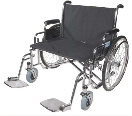 Bariatric Wheelchair drive™ Sentra EC Full Length Arm Removable Padded Arm Style Black Upholstery 28 Inch Seat Width 700 lbs. Weight Capacity Product Image