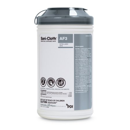 Sani-Cloth® AF3 Surface Disinfectant Cleaner Premoistened Germicidal Wipe 65 Count Canister Disposable Mild Scent NonSterile Product Image