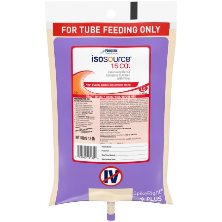 Tube Feeding Formula Isosource® 1.5 Cal 50.7 oz. Bag Ready to Hang Unflavored Adult Product Image