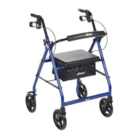 4 Wheel Rollator drive™ Blue Adjustable Height Aluminum Frame Product Image