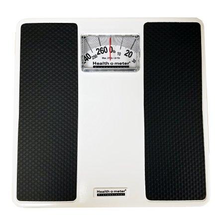 Floor Scale Health O Meter® Dial Display 270 lbs. Capacity Black / White Analog Product Image