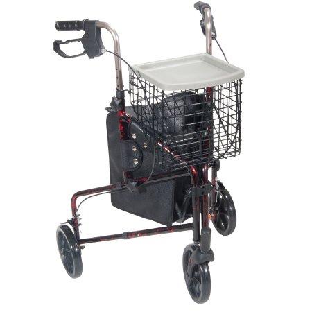 drive™ 3-Wheel Rollator, Red