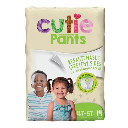 Unisex Toddler Training Pants Cutie Pants® Pull On with Tear Away Seams Size 4T to 5T Disposable Heavy Absorbency Product Image