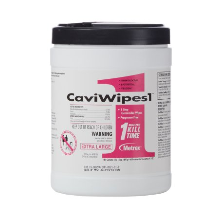 CaviWipes1™ Surface Disinfectant Premoistened Alcohol Based Wipe 65 Count Canister Disposable Alcohol Scent NonSterile Product Image