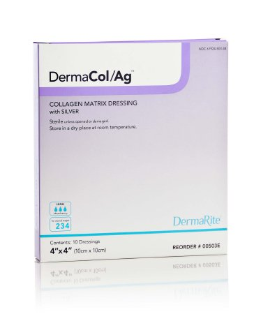 Collagen Dressing with Silver Matrix DermaCol/Ag 4
