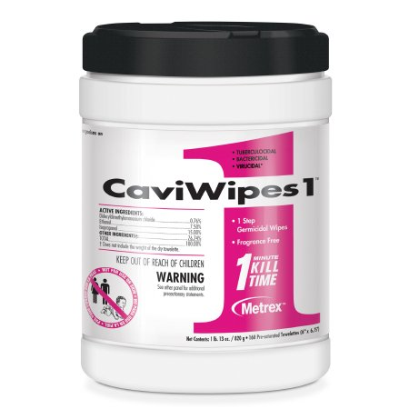 CaviWipes1™ Surface Disinfectant Premoistened Alcohol Based Wipe 160 Count Canister Disposable Alcohol Scent NonSterile Product Image