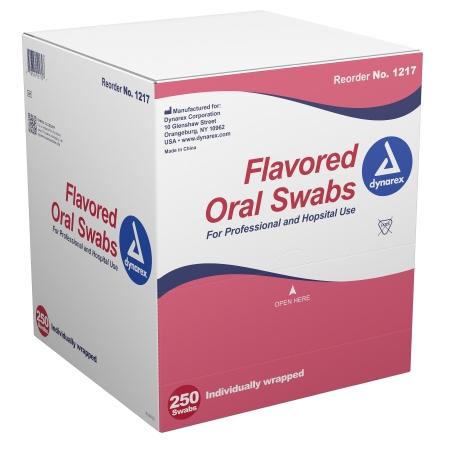 Oral Swabstick Dynarex® Foam Tip Dentifrice Product Image
