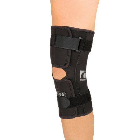 Hinged Knee Brace Ossur® Rebound® Medium D-Ring / Hook and Loop Strap Closure 16 to 18 Inch Thigh Circumference Short Length Left or Right Knee Product Image