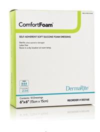ComfortFoam 6x6 Silicone Foam Dressing (10/box)