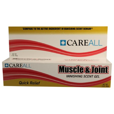 Topical Pain Relief CareAll® Muscle and Joint 2.5% Strength Menthol Topical Gel 3 oz. Product Image