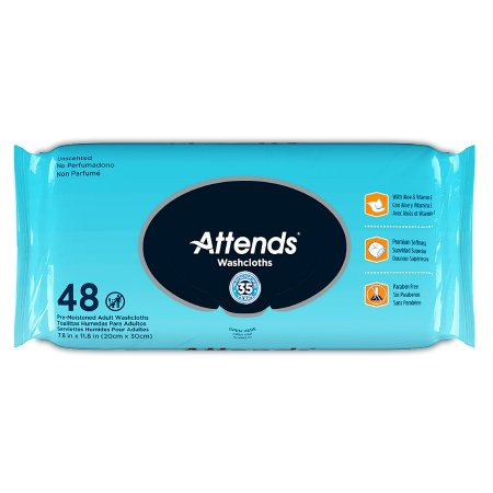 Personal Wipe Attends® Soft Pack Aloe Unscented 48 Count Product Image