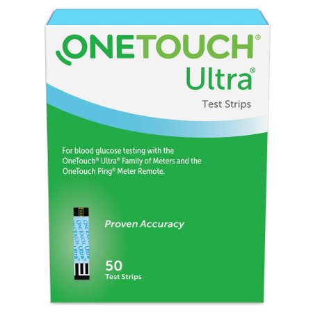 Blood Glucose Test Strips OneTouch® Ultra® Blue 50 Strips per Box For OneTouch® Ultra® Blood Glucose Meter Product Image